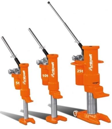 DOSTAWA GRATIS! 32240221 Hydrauliczny podnośnik maszynowy, Unicraft (udźwig: 25 t)
