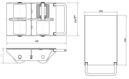 DOSTAWA GRATIS! 44366793 Rolki transportowe, transportery (udźwig: 3000 kg)