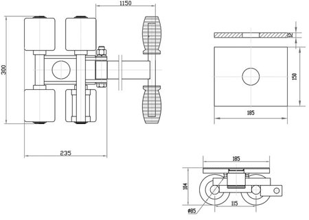 DOSTAWA GRATIS! 44366798 Platforma transportowa do transportu maszyn (udźwig: 3000 kg)