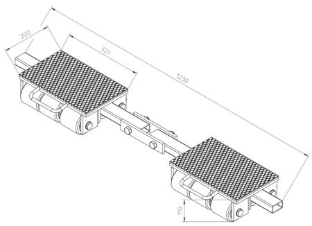 DOSTAWA GRATIS! 4993992 Podwozie transportowe (nośność: 9T)