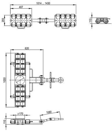 DOSTAWA GRATIS! 49972675 Zestaw podwozi transportowych (nośność: 24T)