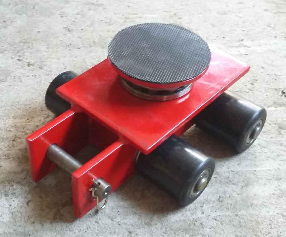 Stalmechon Wózek skrętny do transportu maszyn, urządzeń i sprzętu (rolki: 4x , nośność: 4 ton) 50276389