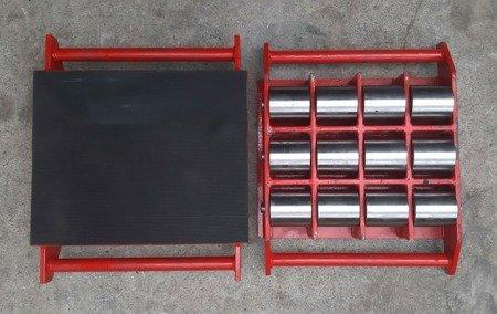 Stalmechon Wózek stały do transportu maszyn, urządzeń i sprzętu (rolki: 6x stal, nośność: 14 ton) 50276381