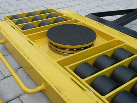 Wózek skrętny 18 rolkowy, rolki: 18x kompozyt (nośność: 28 T) 12235610