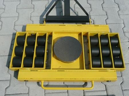 Wózek skrętny 18 rolkowy, rolki: 18x stal (nośność: 28 T) 12235611