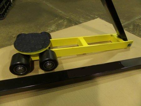 Wózek skrętny przedłużony, 4 rolkowy, rolki: 4x stal (nośność: 4 T) 12267427