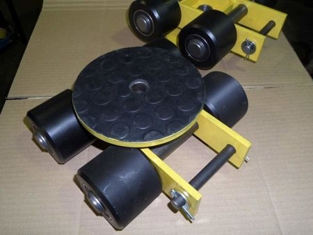 Wózek skrętny z otworem fi 21 w płycie nośnej, 4 rolkowy, rolki: 4x nylon (nośność: 4 T) 12267422
