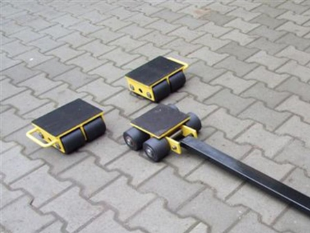 Zestaw wózków, rolki: 12x stal (nośność: 20 T) 12235620